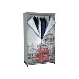 Skládací šatní skříň 87 x 156 x 45 cm, Londýn