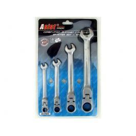 ASIST 20-2424 set kombinovaných kombinovaných (očko-ráčnových) klíčů, 4 ks