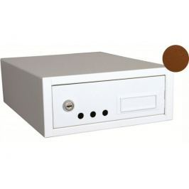 WETRA-XT PS08-4 poštovní schránka Duplex, hnědá