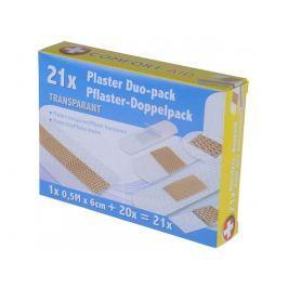 COMFORT AID náplast Duo-pack z netkané textilie transparentní 21ks