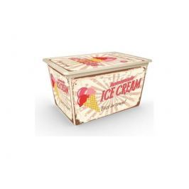 KIS C Box Style XL úložný box 50 L s kolečky, Vintage Sweet