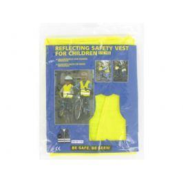 Bezpečnostní vesta žlutá Reflexní pásky a klipy