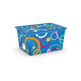 KIS C Box Style XL úložný box 50 L s kolečky, Bubbles Boxy s motivem
