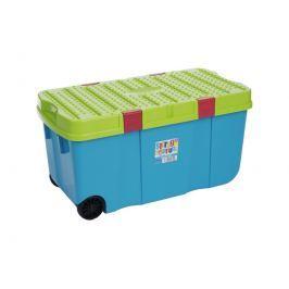 WHAM 11883 Box s víkem a kol. 100 l, modrý