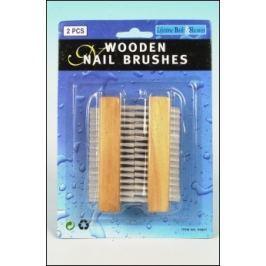 LIFETIME dřevěný kartáček na nehty, 2 ks