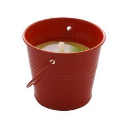 Svíčka zahradní citronová v kbelíčku