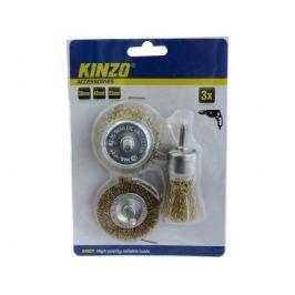 KInzo Ocelové kartáče 3ks 30/48/53mm