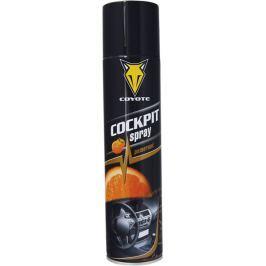 Coyote Cockpit Pomeranč antistatický, čistí a ošetřuje plast, kůži, gumu, dřevo, koženku v interiéru vozidla 400 ml sprej