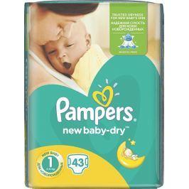Pampers New Baby Dry 1 Newborn 2-5 kg jednorázové plenky 43 kusů