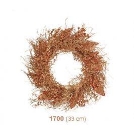 Věnec střapatý zlatý s měděnými glitry 33cm