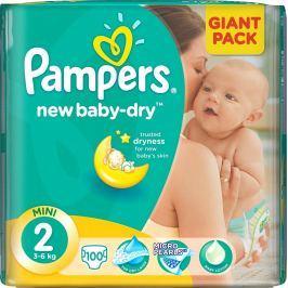 Pampers New Baby Dry 2 Mini 3-6 kg plenkové kalhotky 100 kusů