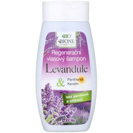 Bione Cosmetics Levandule & Panthenol, Keratin regenerační šampon na vlasy 250 ml