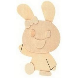 Dřevěná předloha k vymalování 3D Zajíc 13 cm