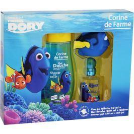 Corine de Farme Hledá se Dory toaletní voda pro děti 50 ml + sprchový gel 250 ml + hračka do koupele rybička, dárková sada