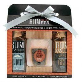 Bohemia Gifts & Cosmetics Rumová kosmetika sprchový gel 100 ml + ručně vyráběné tuhé mýdlo (panák) + olejová lázeň 100 ml, kosmetická sada