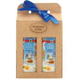 Bohemia Gifts & Cosmetics Med a Kozí mléko Sprchový gel 250 ml + Vlasový šampon 250 ml, kosmetická sada