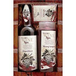 Bohemia Gifts & Cosmetics Wine Spa Vinná kosmetika Hroznový olej a extrakt z vinné révy vlasový šampon 250 ml + olejová lázeň 500 ml + toaletní mýdlo 70 g, kosmetická sada Kosmetické sady