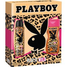 Playboy Play It Wild for Her deodorant sprej 150 ml + sprchový gel 250 ml, kosmetická sada