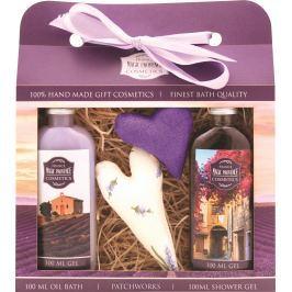 Bohemia Gifts & Cosmetics Lavender La Provence sprchový gel 100 ml + Olejová lázeň 100 ml + patchwork 2 kusy, kosmetická sada