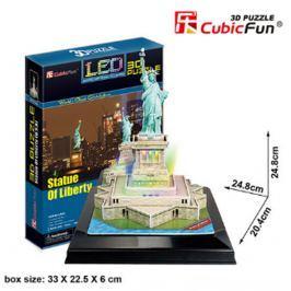 CubicFun Puzzle 3D Socha Svobody LED svítící 37 dílků 20,4 x 24,8 x 24,8 cm