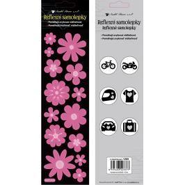 Reflexní samolepky Květiny růžové 7 x 28,5 cm