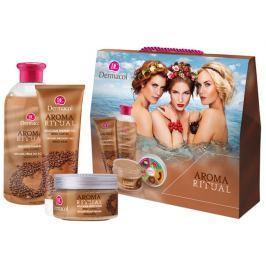 Dermacol Aroma Ritual Irská káva Opojný sprchový gel 250 ml + tělový peeling 200 ml + pěna do koupele 500 ml, kosmetická sada