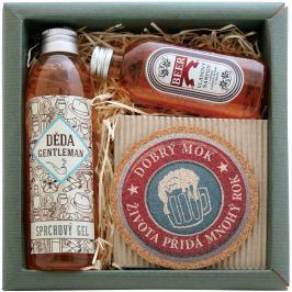 Bohemia Gifts & Cosmetics Pro dědečka Extrakty z pivních kvasnic a chmele Sprchový gel 200 ml + Šampon na vlasy 75 ml+ Korkový podtácek průměr 10 cm