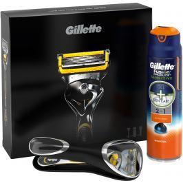 Gillette Fusion Proshield holicí stojek + 1 náhradní hlavice + gel na holení 170 ml + Cestovní pouzdro, kosmetická sada