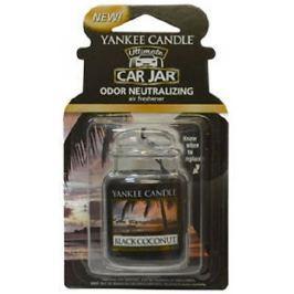 Yankee Candle Black Coconut - Černý kokos gelová vonná visačka do auta 30 g Vůně do auta