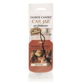 Yankee Candle Leather - Kůže Classic vonná visačka do auta papírová 12 g
