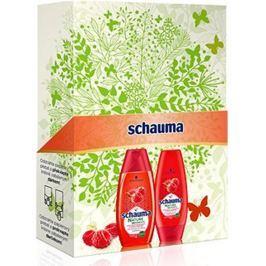 Schauma Nature Moments Štavnatá malina a slunečnicový olej pro ochranu barvy a lesk šampon na vlasy 250 ml + kondicionér 200 ml, kosmetická sada