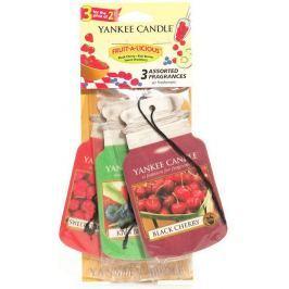 Yankee Candle Fruit A Licious - Mix ovoce Classic vonná visačka do auta papírová sada 3 kusy x 12 g