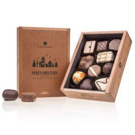 Chocolissimo - Dřevěná vánoční bonboniérka Elegance 125 g