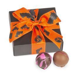 Chocolissimo - Černá krabička s pralinkami na Halloween 50 g