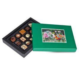 Chocolissimo - Tmavě zelená bonboniéra s Vaší fotografií - midi 180 g