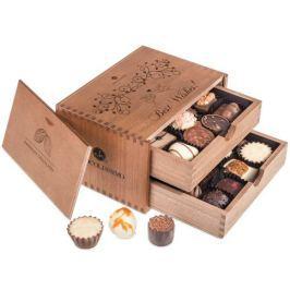Chocolissimo - Chocolaterie Best wishes - Pralinky v dřevěné krabičce 250 g