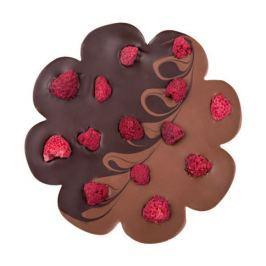 Chocolissimo - Čokoláda mléčno-hořká ve tvaru květiny s malinami 100 g