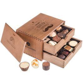 Chocolissimo - Dřevěná bonboniéra na Den Otců - 2 patra 250 g