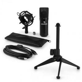 Auna MIC-900B V1, USB mikrofonní sada, černý kondenzátorový mikrofon + stolní stativ
