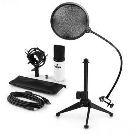 Auna MIC-900WH V2, USB mikrofonní sada, kondenzátorový mikrofon + pop-filter + stolní stativ