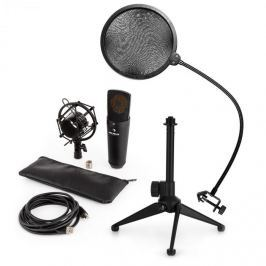 Auna MIC-920B USB mikrofonní sada V2 – kondenzátorový mikrofon, mikrofonní stojan, pop filtr