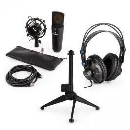 Auna MIC-920B USB mikrofonní sada V1 – sluchátka, kondenzátorový mikrofon, mikrofonní stojan