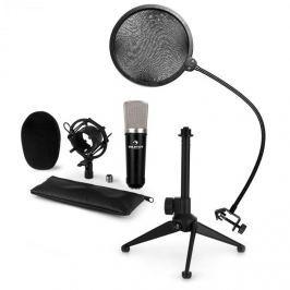 Auna CM003 mikrofonní sada V2 kondenzátorový mikrofon XLR, mikrofonní stojan, pop filtr