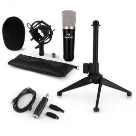 Auna CM003 mikrofonní sada V1, kondenzátorový mikrofon, USB konvertor, mikrofonní stojan