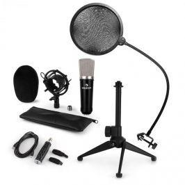Auna CM003 mikrofonní sada V2, kondenzátorový mikrofon, USB konvertor, mikrofonní stojan, pop filtr