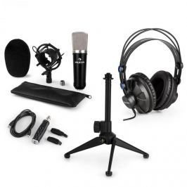 Auna CM003 mikrofonní sada v1, kondenzátorový mikrofon, USB konvertor, sluchátka