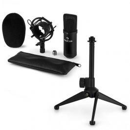 Auna CM00B mikrofonní sada V1 – černý studiový mikrofon s pavoukem a stolním stojanem