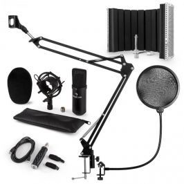 Auna CM001B mikrofonní sada V5, kondenzátorový mikrofon, USB adaptér, mikrofonní rameno, pop filtr, panel