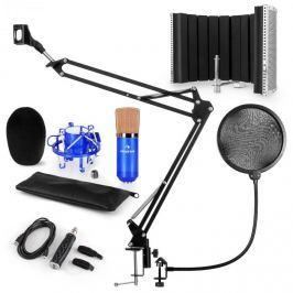 Auna CM001BG mikrofonní sada V5, kondenzátorový mikrofon, USB adaptér, mikrofonní rameno, pop filtr, panel