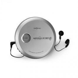 Oneconcept CDC 100MP3 Discman Disc-Player, LCD ASP, zesilovač basů, 2x1,5V; stříbrná barva